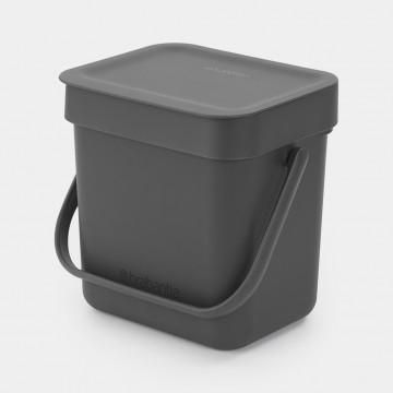 Šiukšlių dėžė Brabantia Sort&Go, pilka, 3l