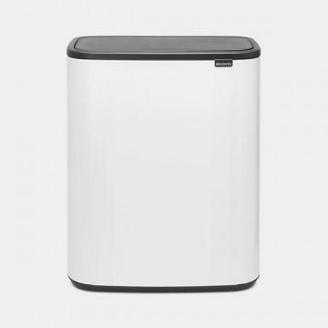 Šiukšlių dėžė Brabantia Bo Touch Bin, balta, 2x30l