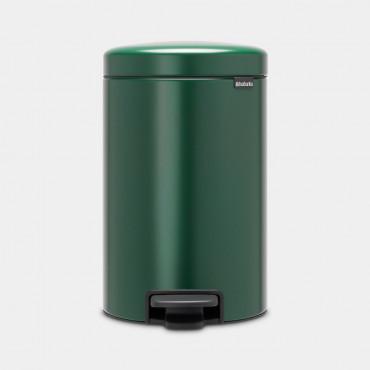 Šiukšlių dėžė atidaroma koja Brabantia NewIcon, tamsiai žalia, 12l