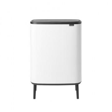 Šiukšlių dėžė Brabantia Bo Touch Bin Hi, balta, 2x30l