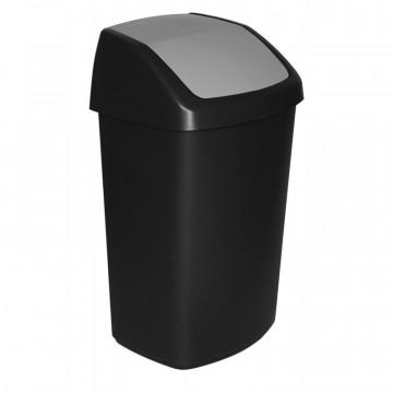 Šiukšlių dėžė Curver Swing-Top juoda/pilka, 50l