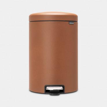 Šiukšlių dėžė atidaroma koja Brabantia NewIcon, cinamono spalvos, 20l