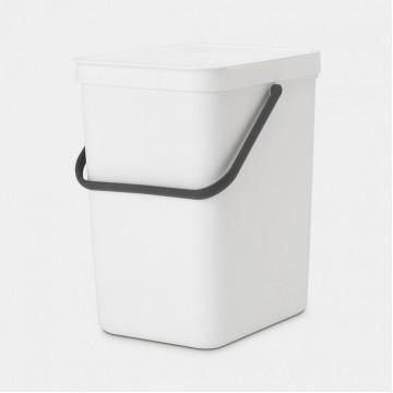 Šiukšlių dėžė Brabantia Sort&Go, balta, 25l