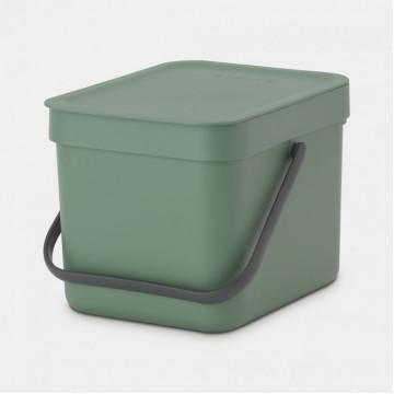 Šiukšlių dėžė Brabantia Sort&Go, tamisai žalia, 6l