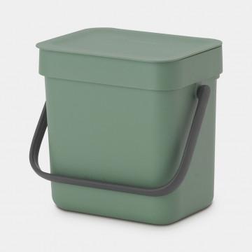 Šiukšlių dėžė Brabantia Sort&Go, tamsiai žalia, 3l