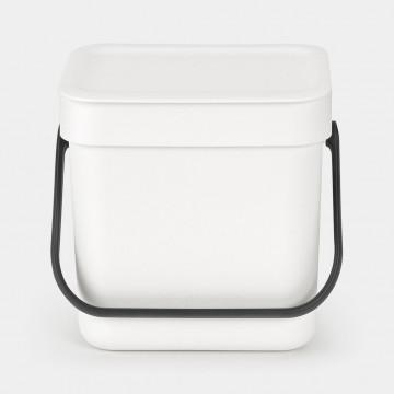 Šiukšlių dėžė Brabantia Sort&Go, balta, 3l