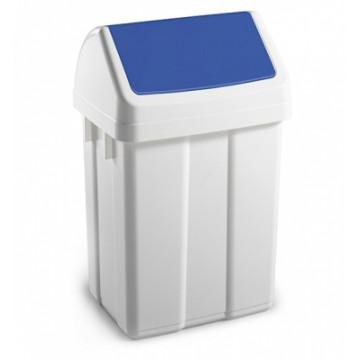 Šiukšlių dėžė su svyruojančiu mėlynu dangčiu Max, 25l