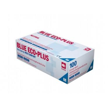 Vienkartinės nitrilo pirštinės be pudros Eco Plus, mėlynos, M dydis, 100vnt.
