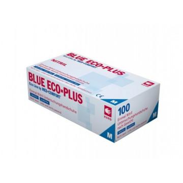 Vienkartinės nitrilo pirštinės be pudros Eco Plus, mėlynos, L dydis, 100vnt.