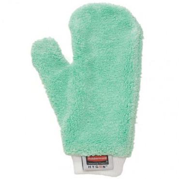 Paviršių valymo pirštinė sausam valymui, mikropluošto, žalia