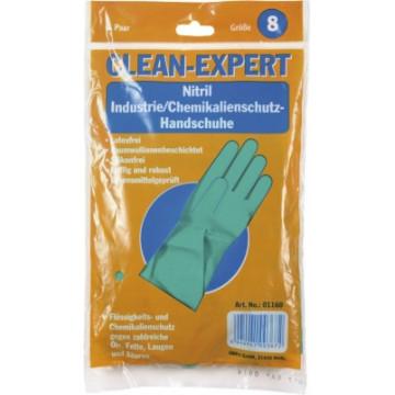 Nitrilo pirštinės Clean-Expert, žalios, S (7-8) dydis, 1 pora