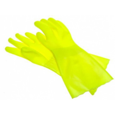 Itin atsparios PVC pirštinės SolidSafety ChemP, geltonos, L dydis, 1pora