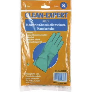 Nitrilo pirštinės Clean-Expert, žalios, XL (10-11) dydis, 1 pora