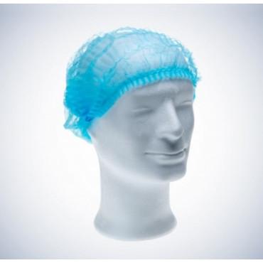 Vienkartinės gofruotos kepuraitės Med Comfort, mėlynos, dydis 52cm, 100vnt