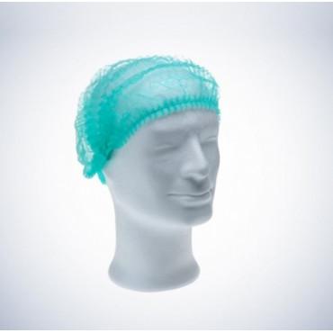 Vienkartinės gofruotos kepuraitės Med Comfort, žalios, dydis 52cm, 100vnt