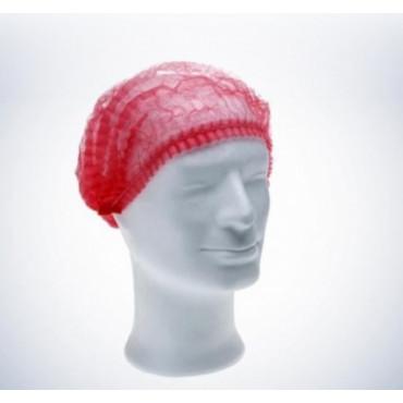 Vienkartinės gofruotos kepuraitės Med Comfort, raudonos, dydis 52cm, 100vnt