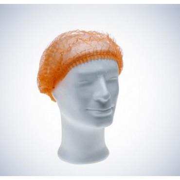 Vienkartinės gofruotos kepuraitės Med Comfort, oranžinės, dydis 52cm, 100vnt