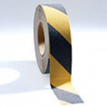 Apsauginė juosta nuo slydimo, Grip-Foot juoda/geltona 50mm x 18.3m