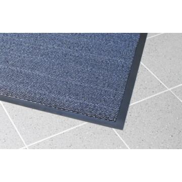 Įėjimo kilimas PVC pagrindu, Vynaplush, juodas/mėlynas, 0.6 x 0.9m (7mm)