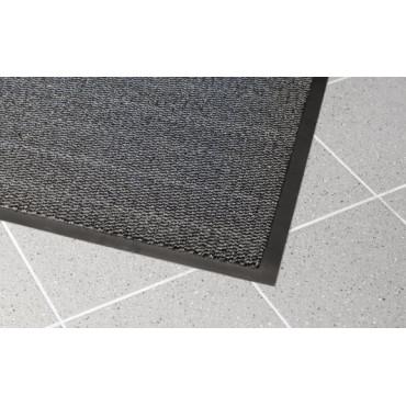 Įėjimo kilimas PVC pagrindu, Vynaplush juodas/pilkas 0.6m x 0.9m (7mm)