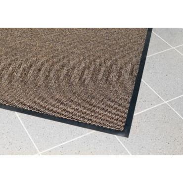 Įėjimo kilimas PVC pagrindu, Vynaplush juodas/rudas 0.6m x 0.9m (7mm)