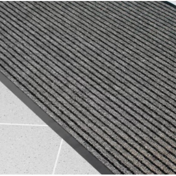 Įėjimo kilimas PVC pagrindu, Duo juoda/pilka 0.6m x 0.9m (7mm)