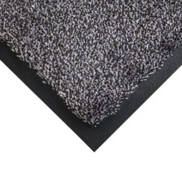 Skalbiamas įėjimo kilimas, COBAwash, juodas/pilkas, 0.6m x 0.85m (9mm)