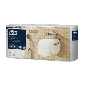 Tualetinis popierius rulonėliais Tork Premium Extra Soft T4, 3sl