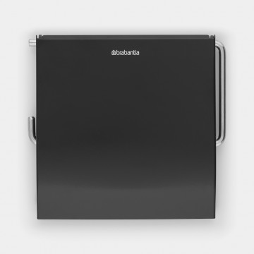 Tualetinio popieriaus laikiklis Brabantia Classic, juodo matinio metalo