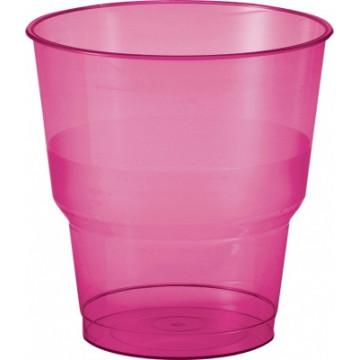 Duni Vienkartinės stiklinės  karštiems/šaltiems gėrimams, BBQ 240 (200) ml, rožinės spalvos, PS, max +100°C, 50 vnt.