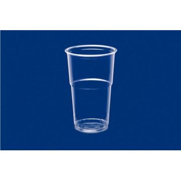 Vienkartinės stiklinės, šaltiems gėrimams (577830510/577850510), 300 ml, PET, skaidrios, skersmuo 7,8 cm , max +60°C, 50 vnt.