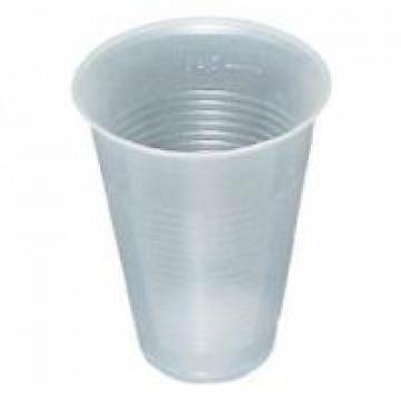 Vienkartinės stiklinės 200ml, be dangtelio, PS, skaidrios, max -5°C/+80°C, 100vnt.