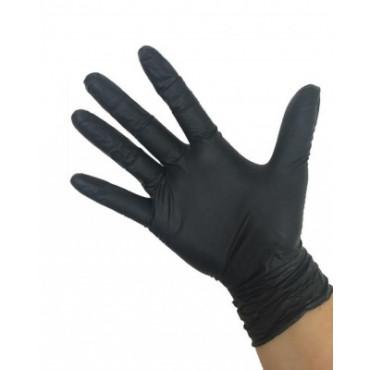 Vienkartinės nitrilo pirštinės be pudros Style Black, juodos, M dydis, 100vnt