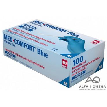 Vienkartinės nitrilo pirštinės be pudros Med Comfort, mėlynos, M dydis, 100vnt.